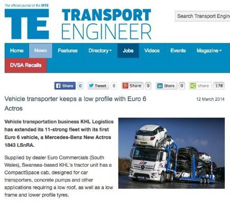 Vehicle transporter keeps a low profile with Euro 6 Actros